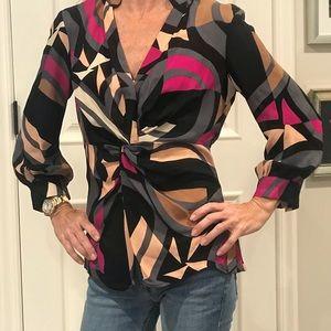 DVF print blouse